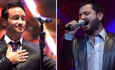 Luciano Pereyra y Jorge Rojas en el Festival Rivadavia Canta al País