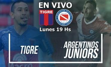 Tigre vs Argentinos Jrs Superliga Argentina 2017/2018 lunes 19 Hs en VIVO por Argen TV y La Folk Argentina
