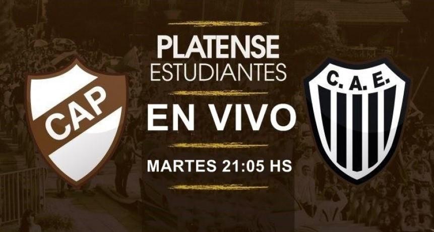 Platense recibe a Estudiantes (BA) desde las 21:05 Hs en VIVO por Argen TV y La Folk Argentina