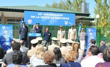 Zamora participó del homenaje a los veteranos y caídos de Malvinas en Tigre