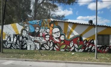 Nuevo mural para la parroquia Nuestra Señora de Carupá