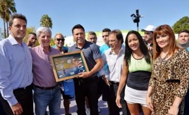 Massa y Andreotti recibieron a Óscar de la Hoya en San Fernando