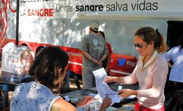 El móvil de donación de sangre recorre Tigre en busca de nuevos donantes