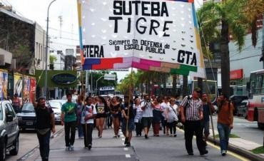 Los docentes de Tigre vuelven a la lucha porque no les depositaron el sueldo
