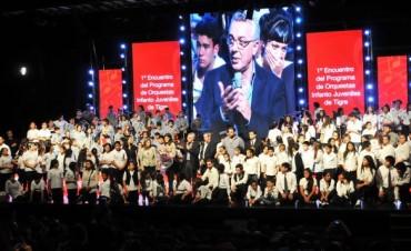 Las orquestas infanto juveniles de Tigre dieron un conmovedor concierto en el Niní Marshall