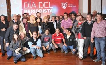 Julio Zamora festejó el Día del Periodista en Tigre