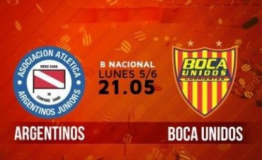 Argentinos Juniors recibe a Boca Unidos en el cierre de la fecha en VIVO por La Folk Argentina