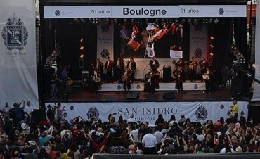 Los vecinos de Boulogne disfrutaron el show del Chaqueño Palavecino
