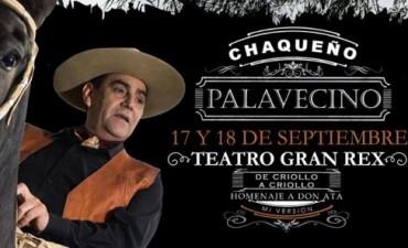 El Chaqueño Palavecino se presenta en el Gran Rex con un homenaje a Atahualpa Yupanqui