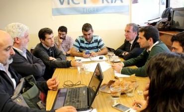 Szpolski analizó la situación hídrica para prevenir inundaciones en Tigre