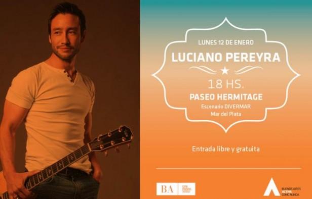 Luciano Pereyra llega a Mar del Plata con entrada libre y gratuita La Folk y la Open cubrirán el evento