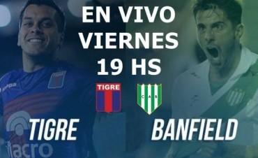 Tigre vs Banfield por la decimotercera fecha de la Superliga 17-18 en VIVO por La Folk Argentina y Argen TV