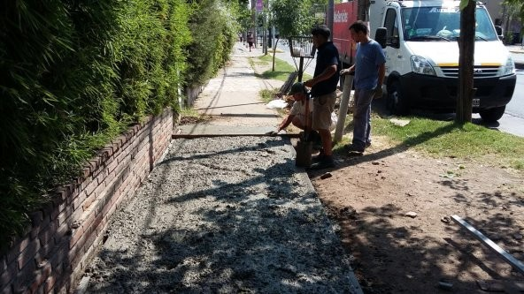 El municipio de Tigre avanza en la recuperación de veredas