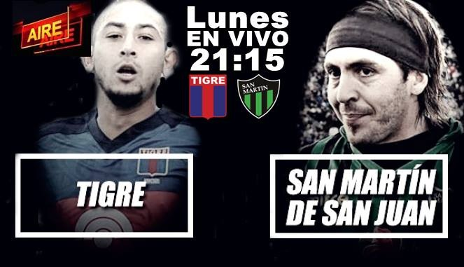 San Martín vs Tigre por la 14ta. fecha de la Superliga EN VIVO por Argen TV y La Folk Argentina