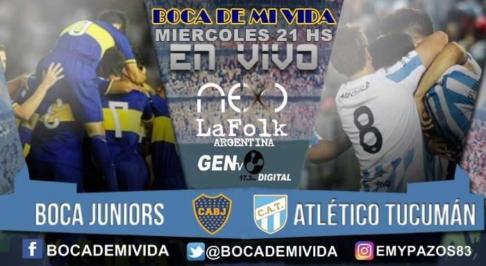 Boca Juniors vs Atlético Tucumán EN VIVO: chocan en duelo pendiente de la Superliga por NEXO, FOLK y GEN TV