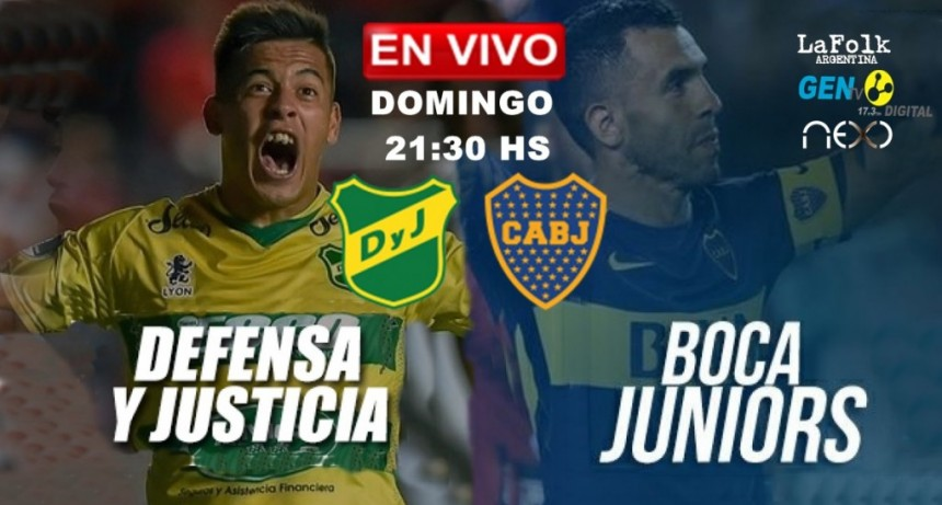 EN VIVO: Defensa y Justicia vs Boca Juniors - Superliga Argentina por NEXO, FOLK y GEN TV