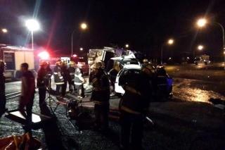 Tragedia en Capitán Sarmiento: cinco integrantes de una familia murieron al chocar con un camión