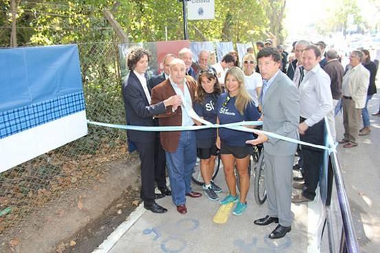 En San Isidro inauguraron el primer tramo de ciclovías