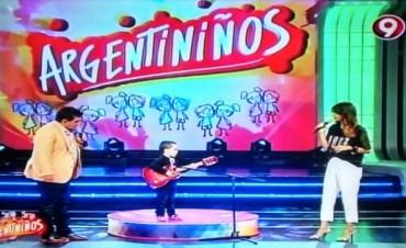 El gran debut de Milo Marotti en Argentiniños por canal 9