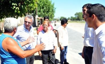 Julio Zamora supervisó las obras realizadas en Troncos del Talar
