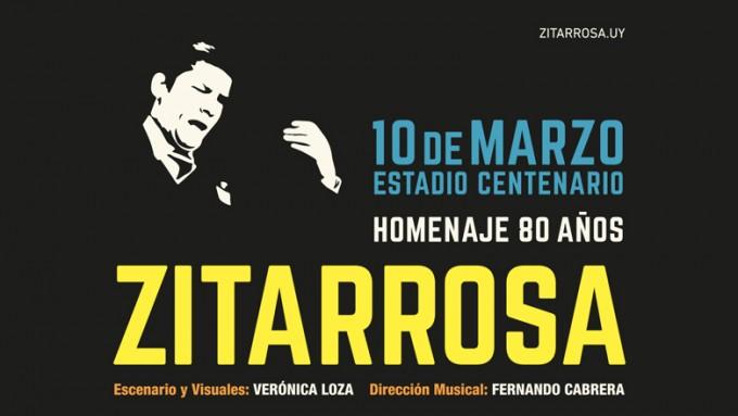 Homenaje a Alfredo Zitarrosa con motivo del 80 aniversario de su nacimiento en Montevideo