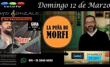 """""""El Heredero"""" de Horacio Guarany """"Yuyo Gonzalo"""" nuevamente en """"La Peña de Morfi"""" que emite los domingos de Telefe"""