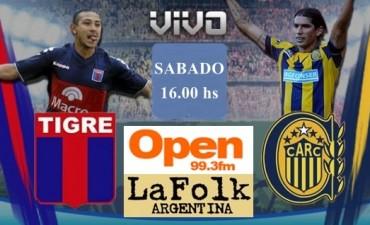 Rosario Central recibe a Tigre buscando volver a ganar de local dede la 16,en VIVO por Open 99.3 y La Folk Argentina