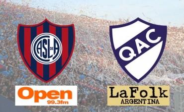 San Lorenzo necesita demostrar ante Quilmes que va a seguir en la pelea con Boca 18Hs por Open 99.3 Fm y La Folk Argentina