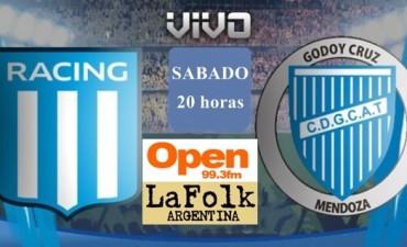 Godoy Cruz, con dos cambios para enfrentar este sábado a Racing desde las 20hs en VIVO por Open 99.3 Fm y La Folk Argentina
