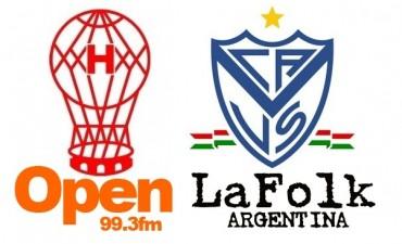 Vélez Sarsfield en José Amalfitani enfrenta desde las 19 Hs a Huracán en VIVO por Open 99.3 y La Folk Argentina