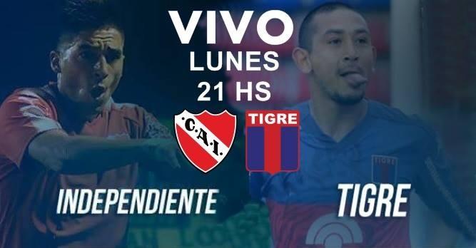 Este lunes desde las 19 Hs en VIVO Tigre vs Independiente Superliga 2017-2018 por Argen TV y La Folk Argentina