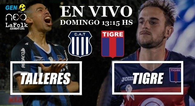Talleres vs Tigre EN VIVO: Superliga 2018/19 por La Folk Argentina y Gen TV
