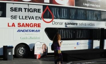 El móvil de donación de sangre de Tigre arranca su recorrido