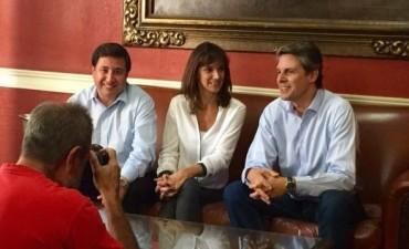Malena Galmarini con Grandinetti en Rosario Si trabajamos todos juntos,no hay sueños imposibles