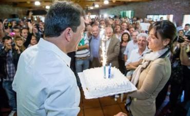 Massa festejó su cumpleaños número 43 con dirigentes del Frente Renovador