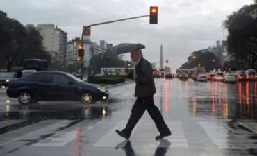 Lluvias y una temperatura máxima de 23 grados en Capital Federal y sus alrededores