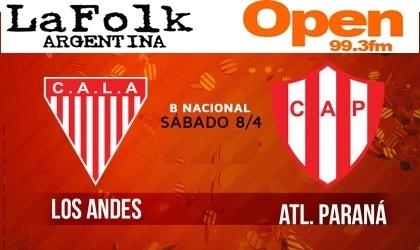 Los Andes tiene todo listo para jugar contra Atlético de Paraná en VIVO 11 Hs por Open 99.3 Fm y La Folk Argentina
