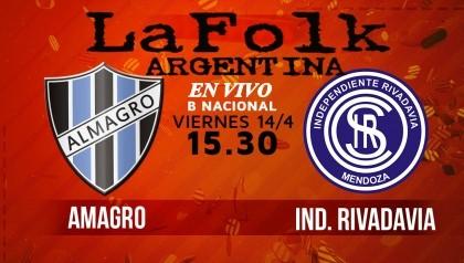 Este viernes, Independiente Rivadavia ante Almagro desde las 15.30 en VIVO por La Folk Argentina