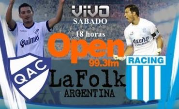 Racing intentará aprovecharse de un urgido Quilmes para escalar posiciones 18 Hs en VIVO por Open 99.3 y La Folk Argentina