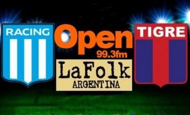 Racing quiere seguir de racha y recibe al Tigre de Sava, en VIVO por Open 99.3 Fm y La Folk Argentina