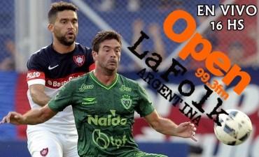 San Lorenzo vs Sarmiento 16:00 desde el Pedro Bidegain en VIVO por Open 99.3 Fm y La Folk Argentina