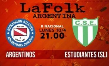 Argentinos vs Sportivo Estudiantes (SL) Primera B Nacional 2016-2017 en VIVO Por La FolkArgentina