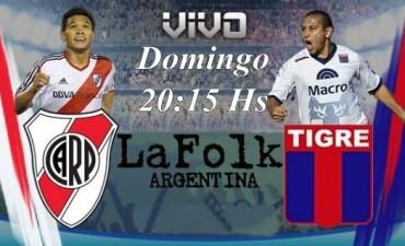 Este domingo River visitará a Tigre en el José Dellagiovanna a partir de las 20:15 en VIVO por La Folk Argentina