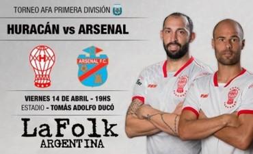 Desde las 19 hs en el Ducó con Arsenal vs Huracán en VIVO por La Folk Argentina