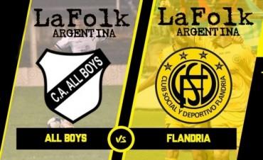 Flandria va por un triunfo que lo saque del descenso en VIVO 15:30 hs por La Folk Argentina