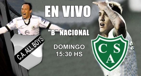 """Sarmiento vs All Boys, por la fecha 21 """"B"""" Nacional domingo 15:30, en VIVO por Argen TV y La Folk Argentina"""