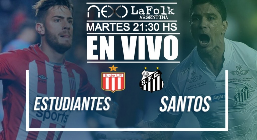 Santos vs Estudiantes La Plata, Copa Libertadores desde Brasil en VIVO por Argen TV y La Folk Argentina