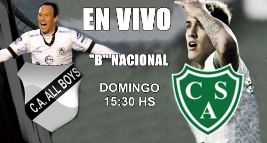 "Sarmiento vs All Boys, por la fecha 21 ""B"" Nacional domingo 15:30, en VIVO por Argen TV y La Folk Argentina"
