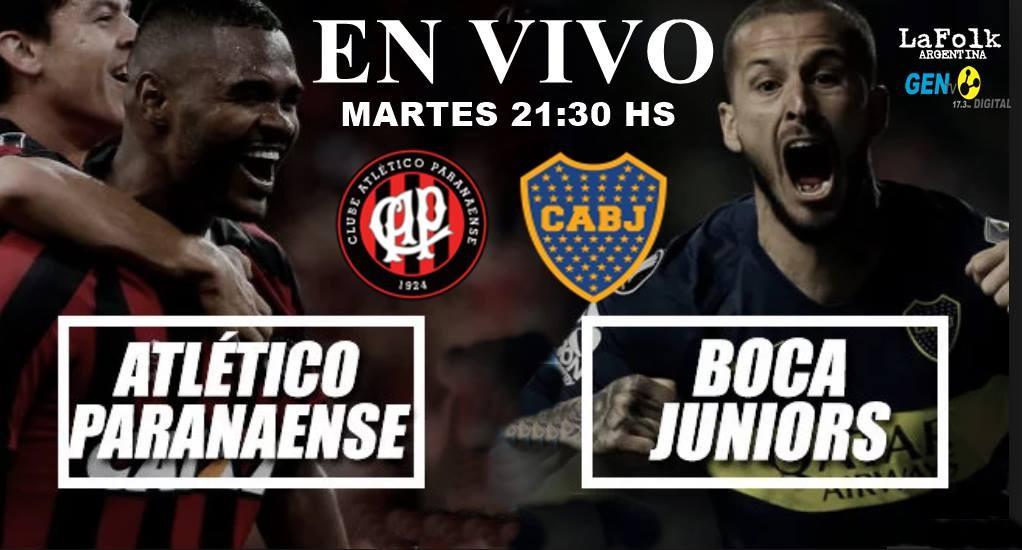 Boca Juniors vs Atlético Paranaense se enfrentan por el Grupo G de la Copa Libertadores en VIVO por La Folk Argentina