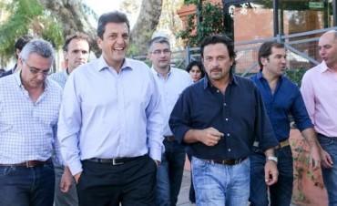 Massa recibió en Tigre al intendente electo de Salta